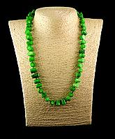 """Намисто з зеленого корала """"шматочки"""", фото 1"""