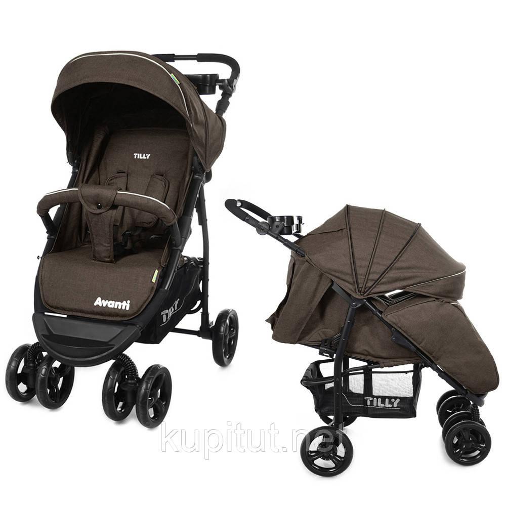 Детская прогулочная коляска Tilly Avanti T-1406 brown, коричневая