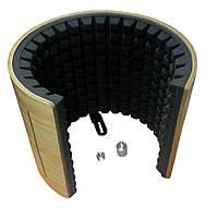 """Акустический экран микрофонный звукопоглощающий """"Airscreen Wood"""" (переходники 5/8 до 3/8 и 3/8 до 5/8)"""