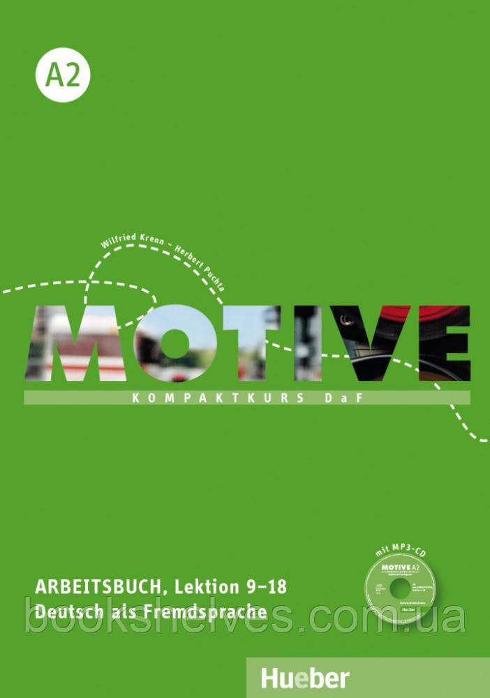 Motive A2 Arbeitsbuch Lektion 9–18 mit MP3-Audio-CD
