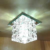 Светильник точечный декоративный с кристаллом Z-Light ZA073 хром, фото 1