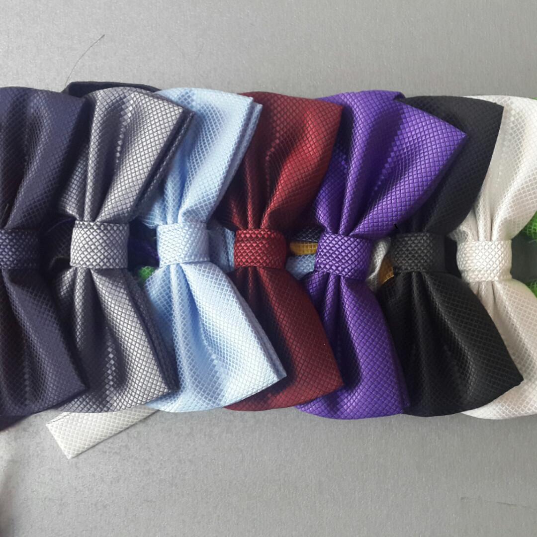 Однотонные галстуки-бабочки