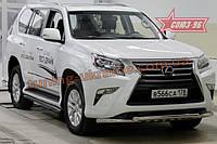 Защита переднего бампера с декоративными элементами,d60/60 двойная Союз 96 на Lexus GX460 2014 (эксклюзив TMR)