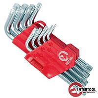 Набор Г-образных ключей TORX 9шт, Т10-Т50, Cr-V, Small HT-0607