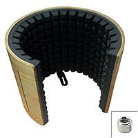 """Акустический экран микрофонный звукопоглощающий """"Airscreen Wood"""" (переходник 3/8 до 5/8)"""