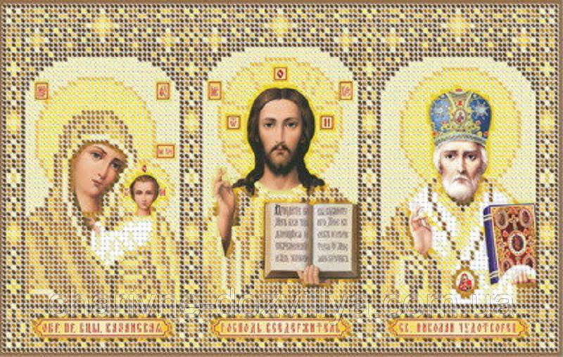 """Схема для вышивки бисером икона """"Домашний Иконостас""""(золото)"""
