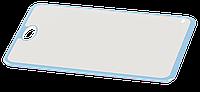 Доска разделочная Irak Plastik Прямая бело-голубая, фото 1