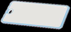 Доска разделочная Irak Plastik Прямая бело-голубая