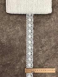 Кружево хлопковое ( лен)  4  см, 50 ярд