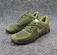 Кроссовки мужские  Nike Free Run 5.0 текстиль хаки (найк фри ран)(р.40,41,42,43,44,45)