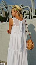 Легкое платье в пол без рукав свободного кроя без рукав белое, фото 2