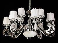 Люстра классическая с светодиодной подсветкой  рожков серебро/золото 8331-12, фото 1
