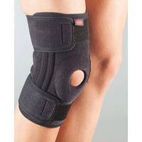 АУРАФИКС Бандаж на колено неопрен, разъемный, силик кольцо, 2силик+4спиральных ребра 3103 р