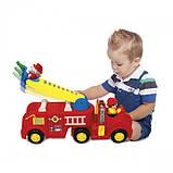 Развивающая игрушка - ПОЖАРНАЯ МАШИНА (механическая, свет, звук) Kiddieland, фото 2