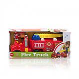 Развивающая игрушка - ПОЖАРНАЯ МАШИНА (механическая, свет, звук) Kiddieland, фото 4