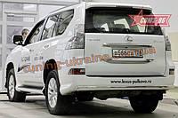 Защита задняя 75х42 овальная Союз 96 на Lexus GX460 2014 (эксклюзив TMR)