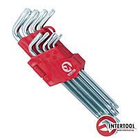 Набор Г-образных ключей TORX 9шт, Т10-Т50, Cr-V, Big HT-0608