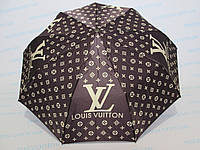 "Женский зонт полуавтомат (копия) бренда Луи Витон ""Lovis Vuitton"", (копия) бренда GUCCI, (копия) бренда шанель, фото 1"