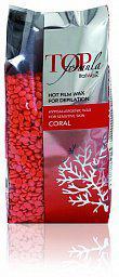 Пленочный воск для депиляции в гранулах TOP Formula Coral (Коралл)