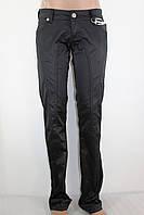 Штаны женские плотный атлас D-1566 черные 36 (42)