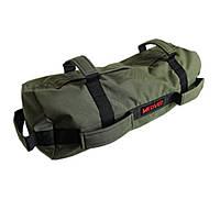 Сэндбэг -размер M- до 25 кг спортивный мешок с песком для кроссфита и фитнеса цвет олива, фото 1