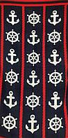 Пляжное полотенце Якоря и штурвалы-2