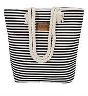 Пляжная сумка женская. Жіноча сумка в полоску