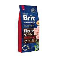 Корм для собак Brit Premium by Nature Adult L (Бріт преміум едалт дог Л) 15кг.