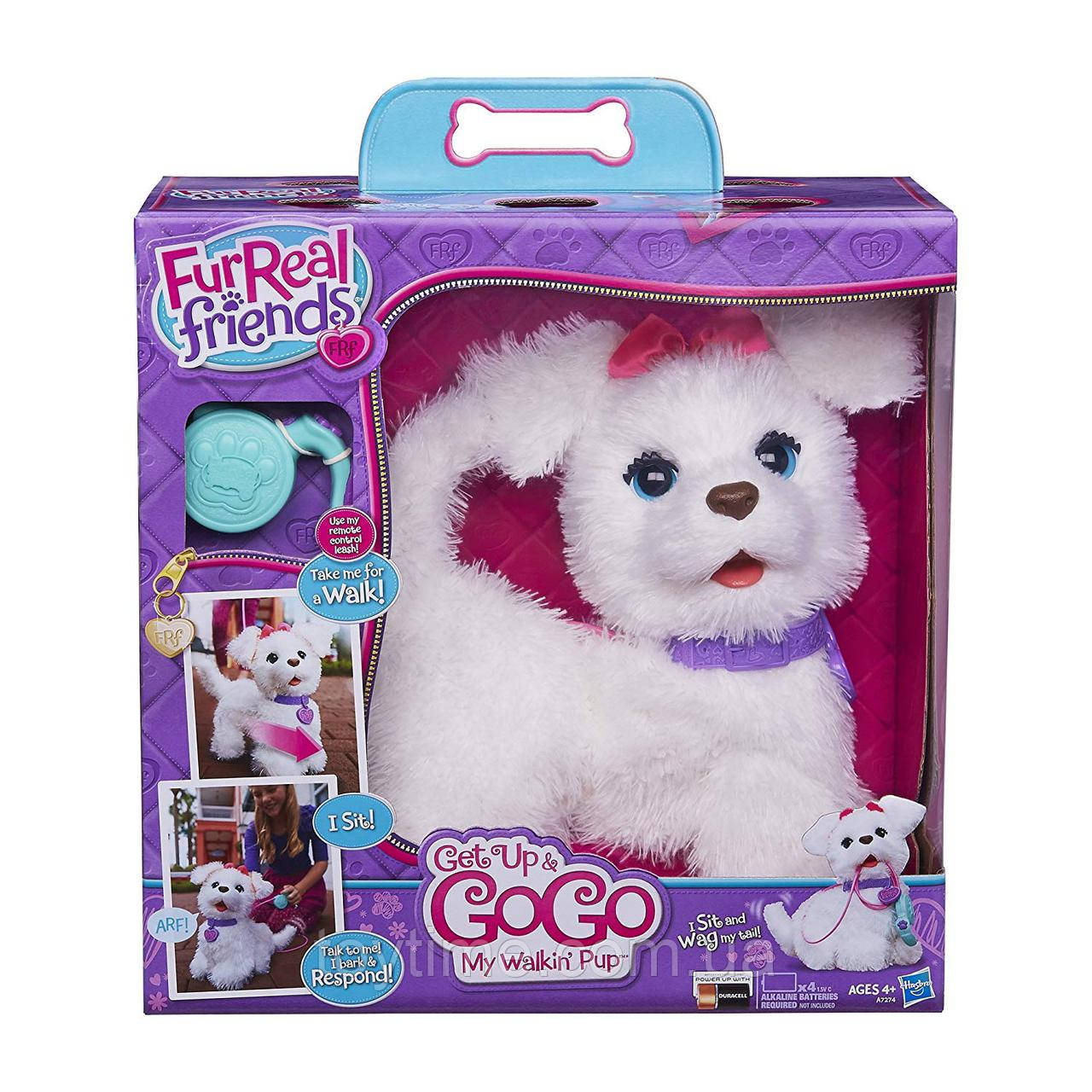 Интерактивный щенок ГоГо FurReal Friends от Hasbro / FurReal Friends Get Up & GoGo My Walkin' Pup Pet