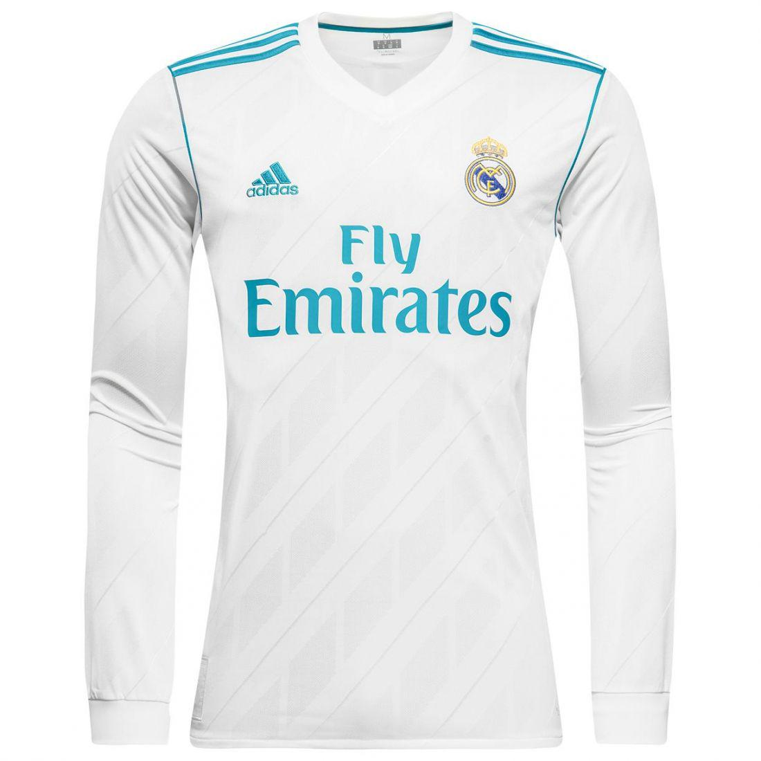"""Клубная футбольная форма""""Реал Мадрид"""" (домашняя), сезон 2017/18, с длинным рукавом"""