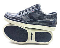 Туфли подростковые спортивные ECCO на замочке кожаные 0022ЕМ