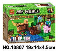 Конструктор Bela 10807 Майнкрафт Minecraft Арбузная ферма 75 деталей, фото 1