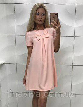 """Восхитительное женское платье прямого кроя """"бантик стайл"""" 3 цвета"""