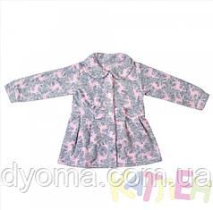 """Детское флисовое пальто """"Бантик"""" для девочек"""