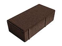 "Тротуарная плитка "" Кирпичик"" коричневая 45 мм."