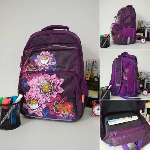 da7f3f79bc4c Рюкзак Цветок ортопедический для девочек хорошее качество размер 40х30х20