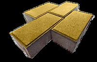 "Тротуарная плитка "" Кирпичик"" желтая 45 мм."