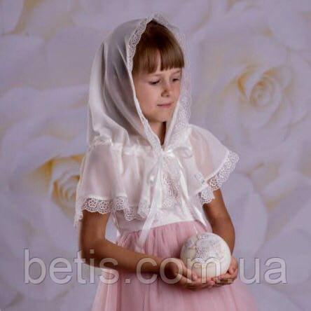 """Палантин """"Діва Марія"""" для детей 60*90 Белый"""