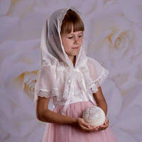"""Палантин """"Діва Марія"""" для детей 60*90 Белый, фото 1"""