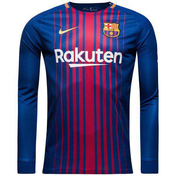 Детская футбольная форма Барселона (домашняя), сезон 2017/18, с длинным рукавом