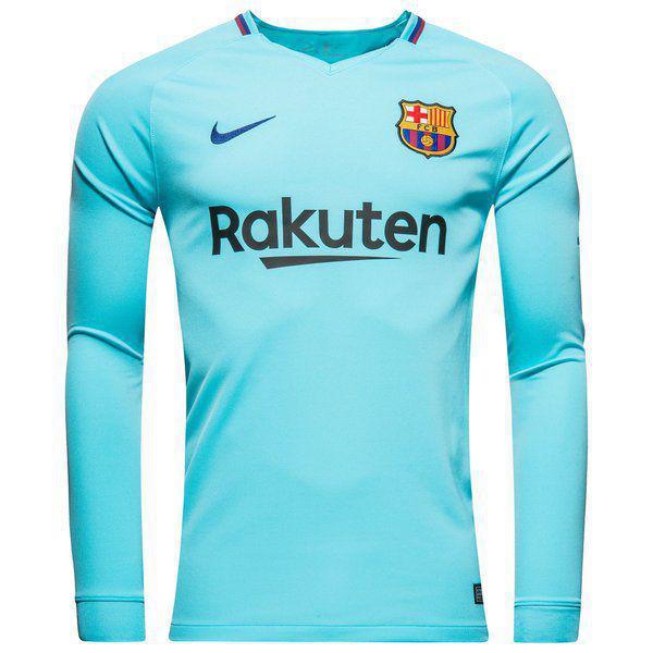 Детская футбольная форма Барселона (выездная), сезон 2017/18, с длинным рукавом
