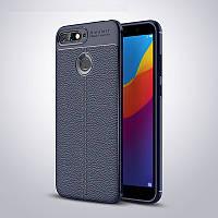 "Чехол Touch для Huawei Y6 Prime 2018 (5.7"") бампер оригинальный Auto focus Blue"