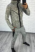 Мужской лимованный спортивный костюм на змейке / двунитка / Украина 47-1155, фото 1
