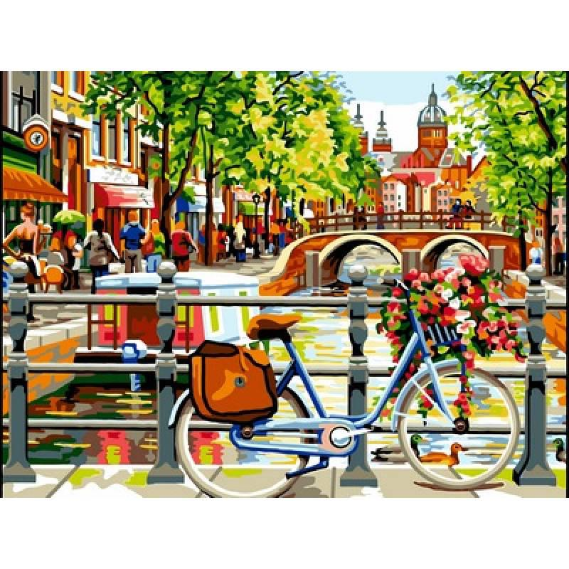 Картина по номерам Амстердам, 30x40 см., Babylon