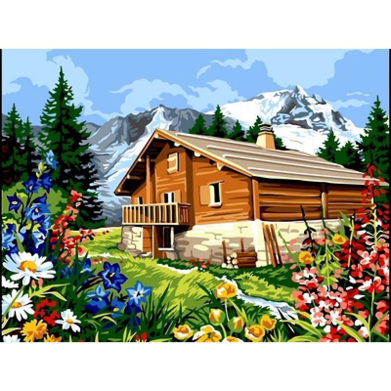 Картина по номерам Лето в горах, 30x40 см., Babylon