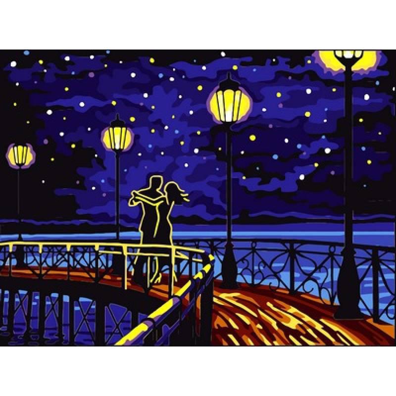 Картина по номерам Романтический танец, 30x40 см., Babylon