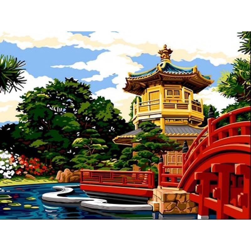Картина по номерам Женский монастырь Чи Лин и Сад Нан Лиан, 30x40 см., Babylon