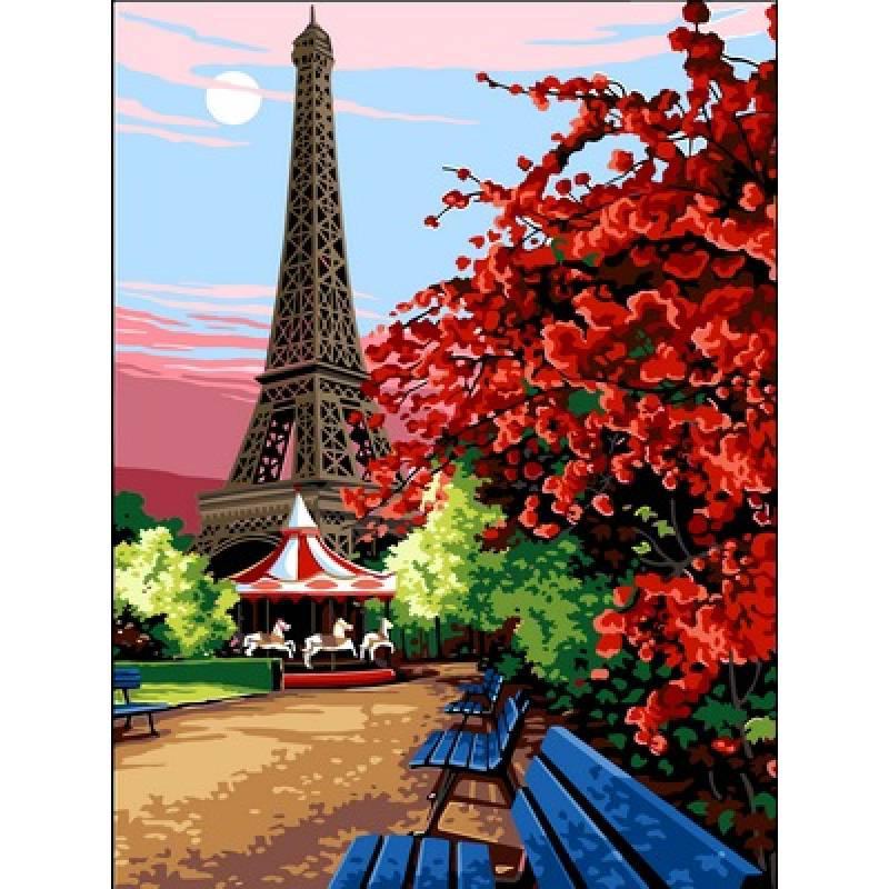 Картина по номерам Эйфелева башня, 30x40 см., Babylon