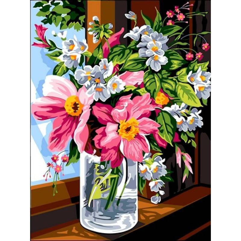 Картина по номерам Утренние цветы, 30x40 см., Babylon