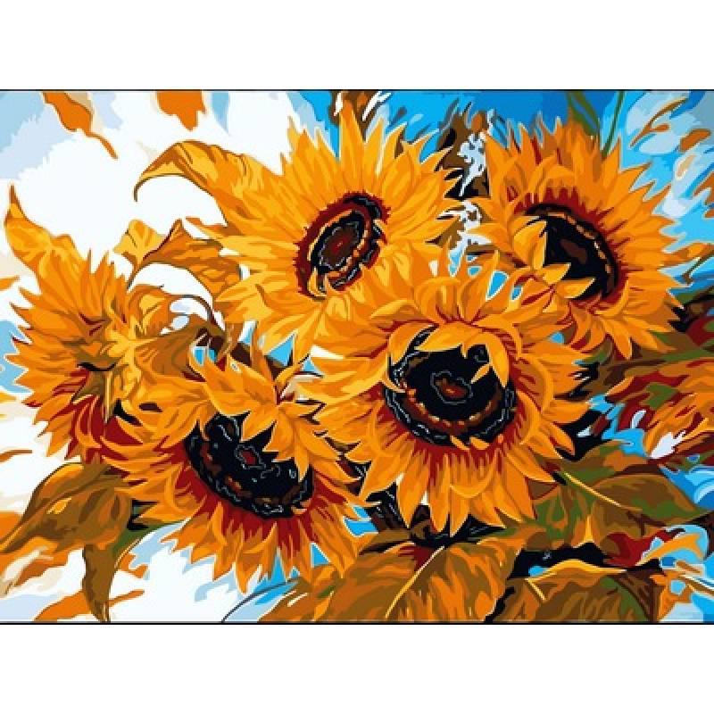 Картина по номерам Цветы солнца, 30x40 см., Babylon